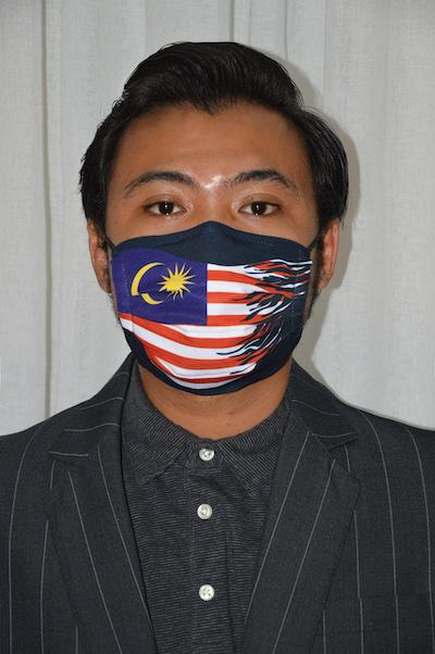 #UnityMasks-Federal Territories Edition Reusable Masks(4Pack:Federal Territories&Malaysia Flag,Blue&Black Frontliner)