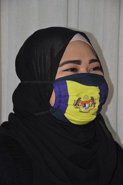 #UnityMasks - Putrajaya Edition Reusable Face Masks (4 Pack: Putrajaya Flag, Malaysian Flag, Blue & Black Frontliner Flags)