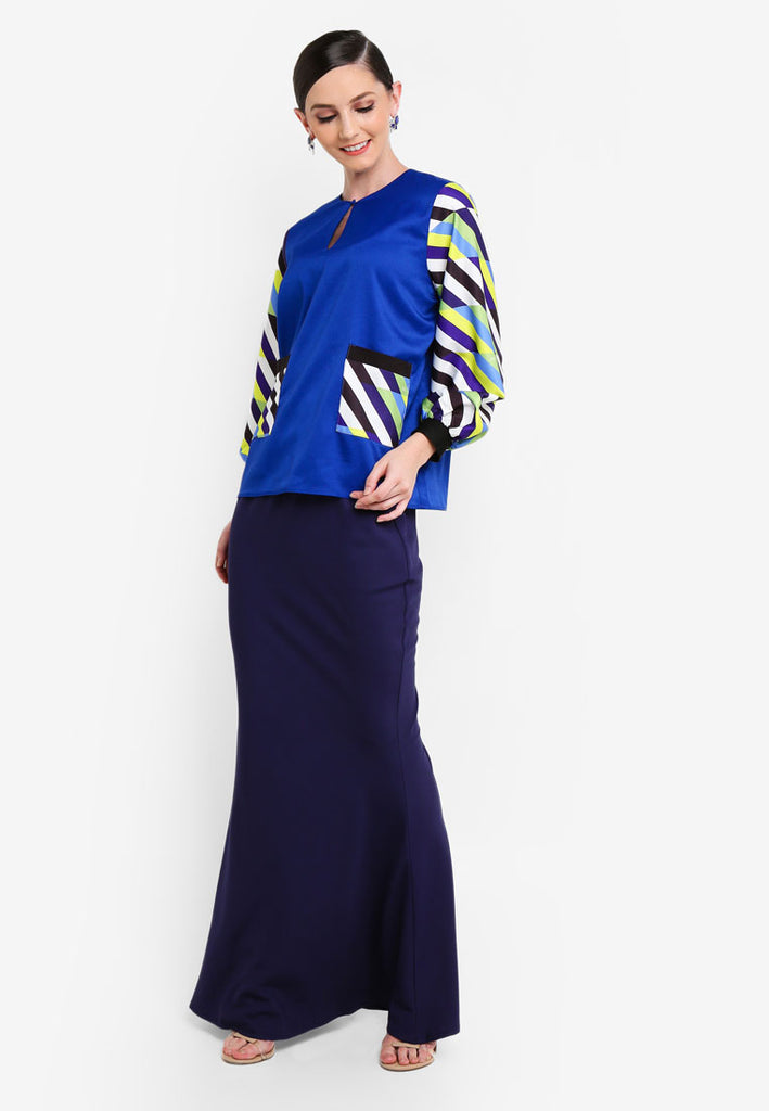 LA BOCA - MODERN KURUNG KEDAH W/ POCKETS AND CUFFS - BLUE
