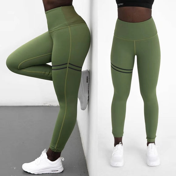 Fashion Push Up Leggings / Women Workout Leggings / Slim Leggings / Polyester V-Waist Jeggings - celebrityfashion-in