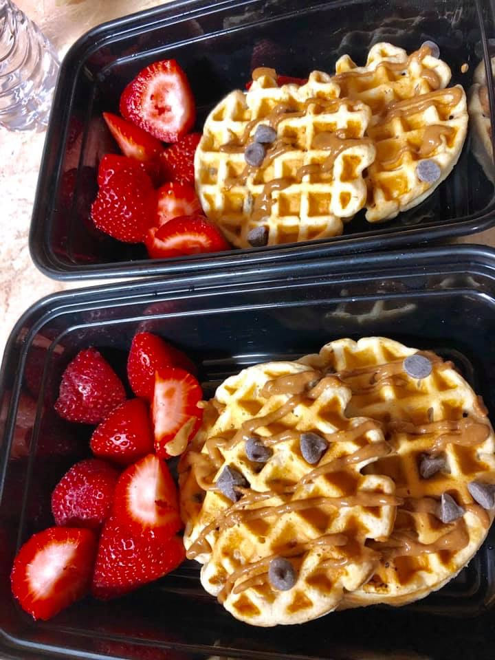 Chocolate Chip Protein Waffles