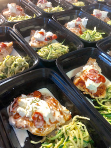 Chicken Bryan with Alfredo Zoodles OR Pasta