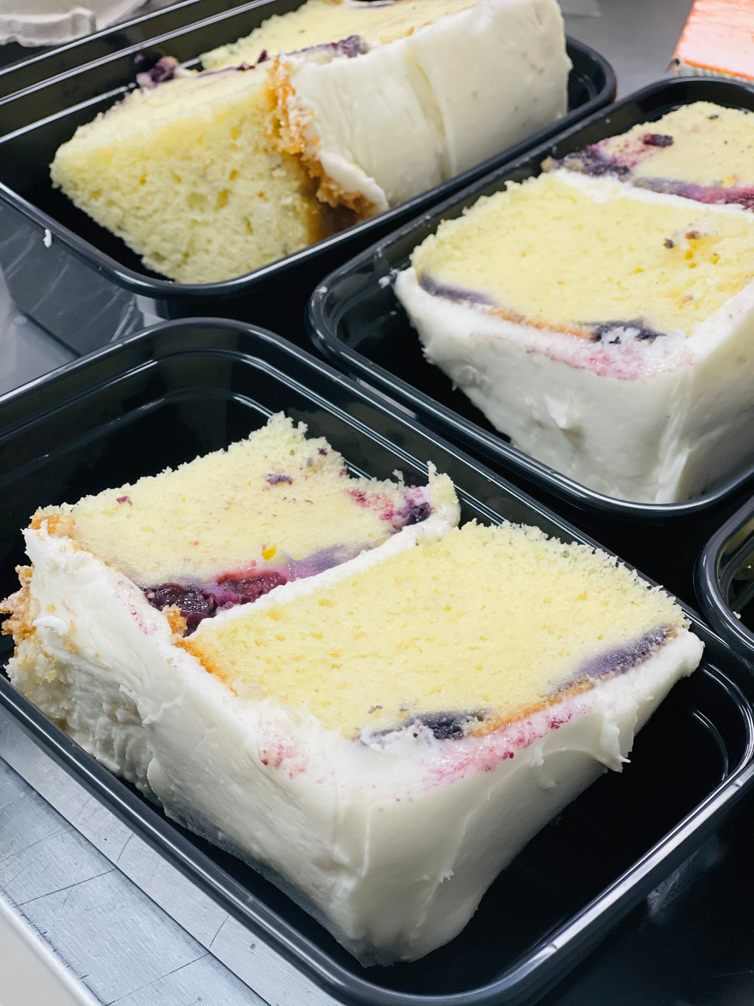 Lemon Blue Berry Cake Slice (keto available)