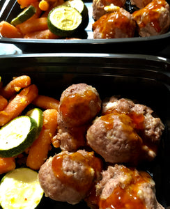 Polynesian Turkey Meatballs with Zucchini and Carrots