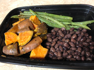 *Vegan* Black Beans, Sweet Potatoes, Green Beans