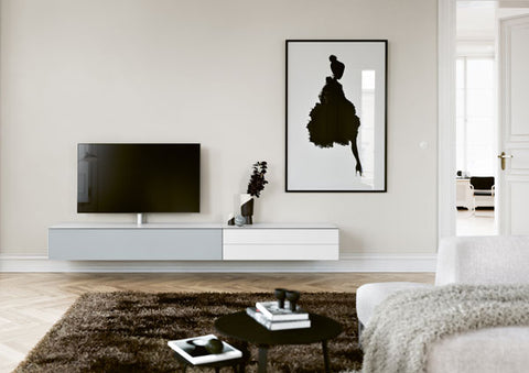 Designer furniture in living room in North Wales