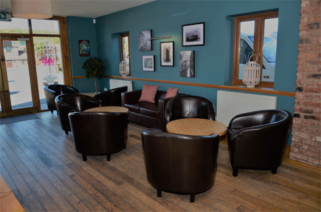 Interior of Con Amici Restaurant in Denbigh