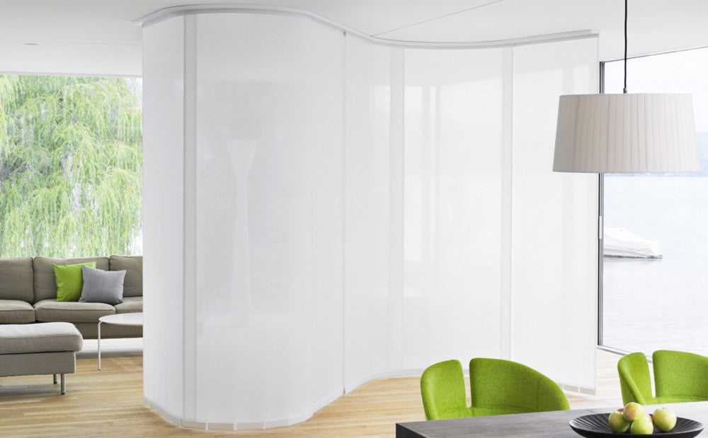White Sliding Panels