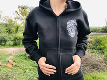 Load image into Gallery viewer, Hoodie Unisex Cempasúchil Flower Skull