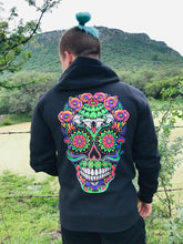 Load image into Gallery viewer, Hoodie Unisex Peyote Mushroom Skull Trip