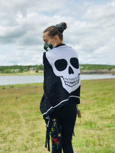 Load image into Gallery viewer, Shawl Unisex Premium Big Skull