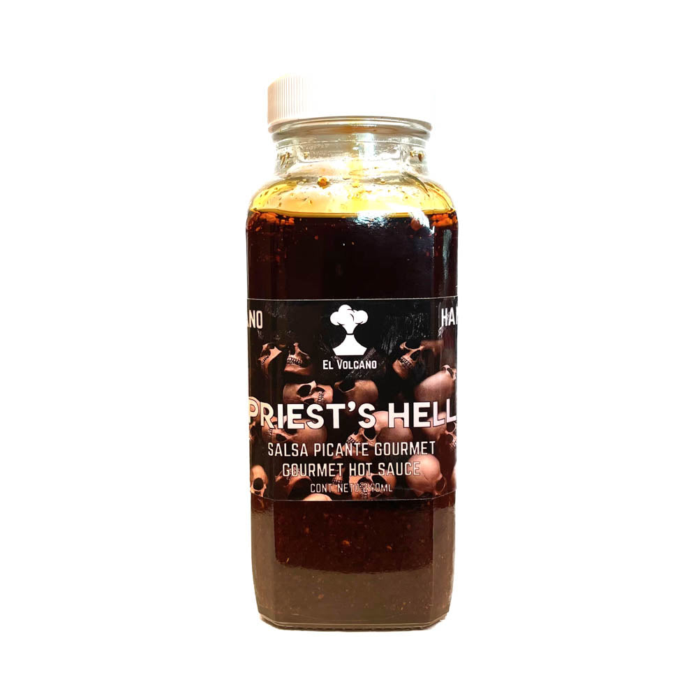 Priest's Hell Flavorful Extra Hot Sauce 240ml by El Volcano