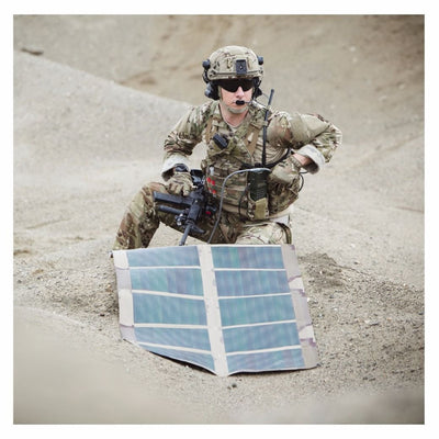 Galvion Nerv Centr Solar Charger Kit in use