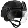 Galvion Batlskin Viper Interlocking Rails - Black on Viper Helmet with Viper Max Visor and Viper Front Mount
