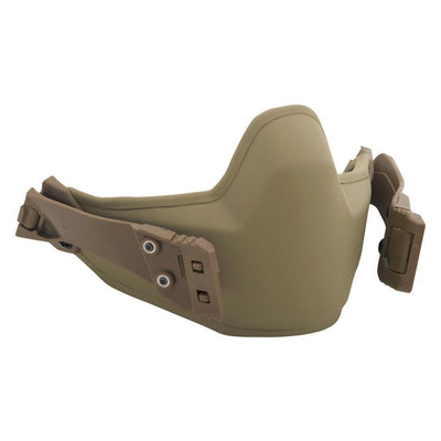 Galvion Caiman Ballistic Mandible Guard Folded - Tan499