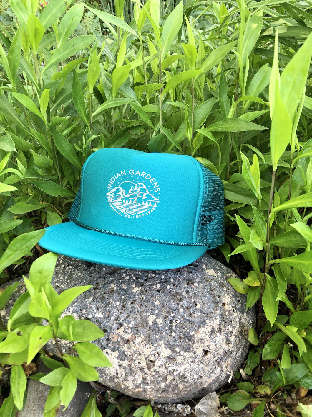 IG Trucker Hat - Teal with Canyon Line Art