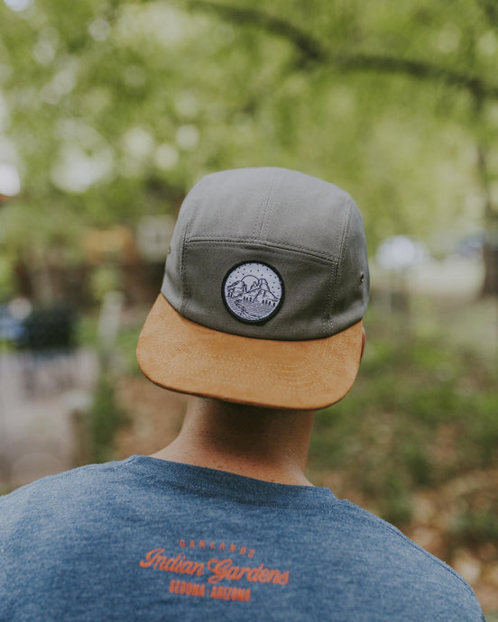 IG Gray Snapback Hat with Embroidered Patch