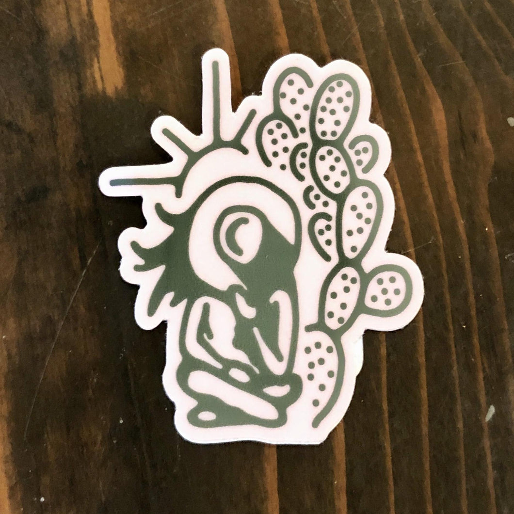 Prickly Pear Paper Sticker - Cowgirl Sunset