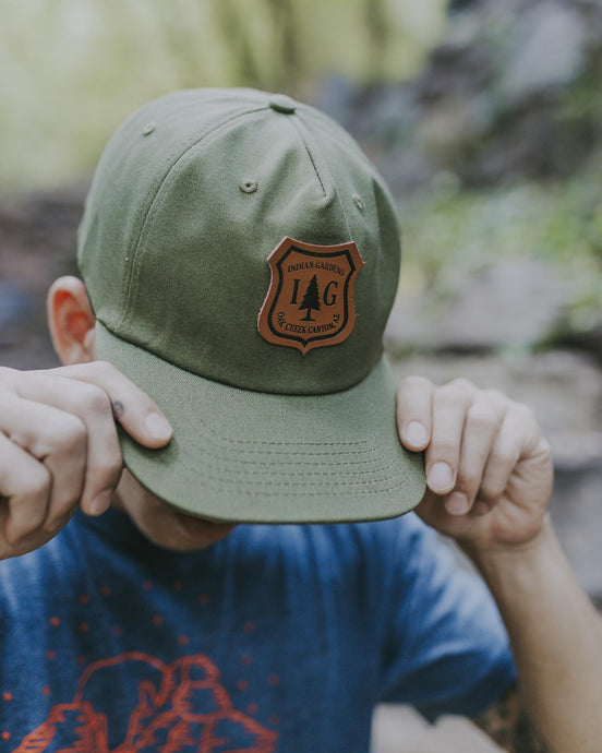 IG Green Forest Service Badge Snapback Hat