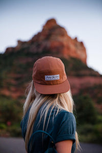 Toffee Snapback Hat with IG Script Logo