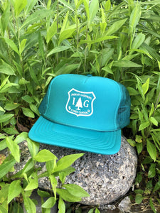 IG Trucker Hat - Teal with Forest Badge