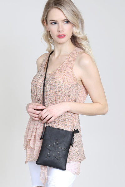 STAR MINI CROSSBODY LEATHER BAG