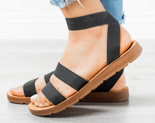 Black Ankle Wrap Sandal