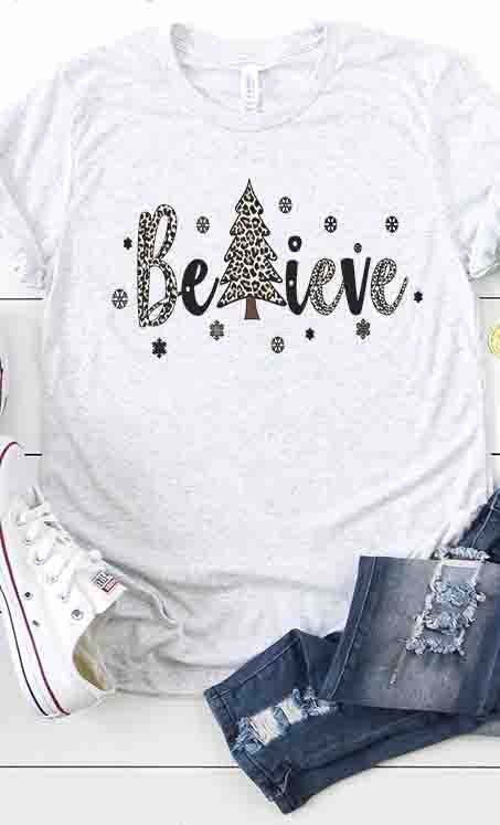 Believe graphic tee