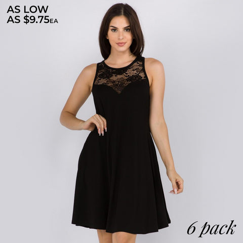 LACE SLEEVELESS DRESS 7306818