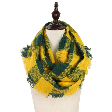 Green/Yellow Infinity Scarf
