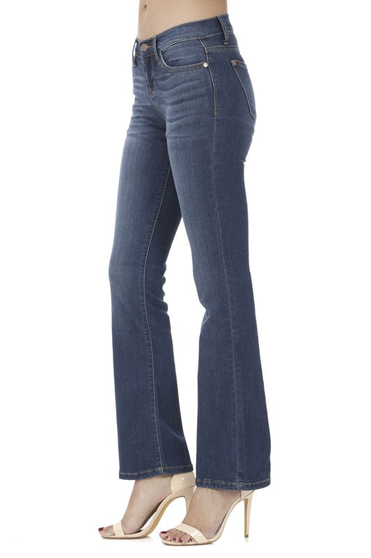 Mid Rise Bootcut Judy Blue Jeans