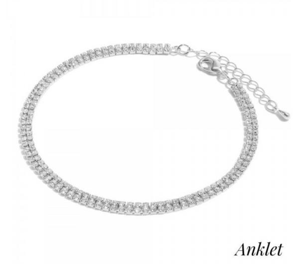 Double row anklet