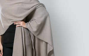 Cashmere wool blend oversized luxury travel cape