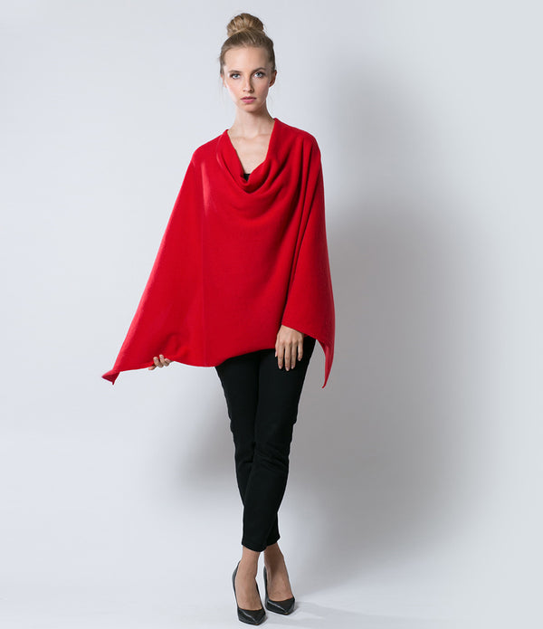 Scarlet Red Poncho