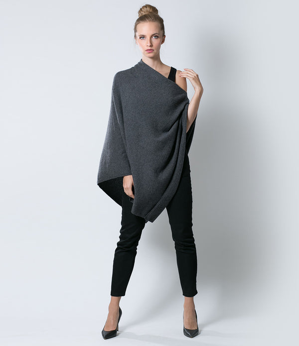 Warm Charcoal Poncho