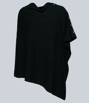 Crystal Black Poncho
