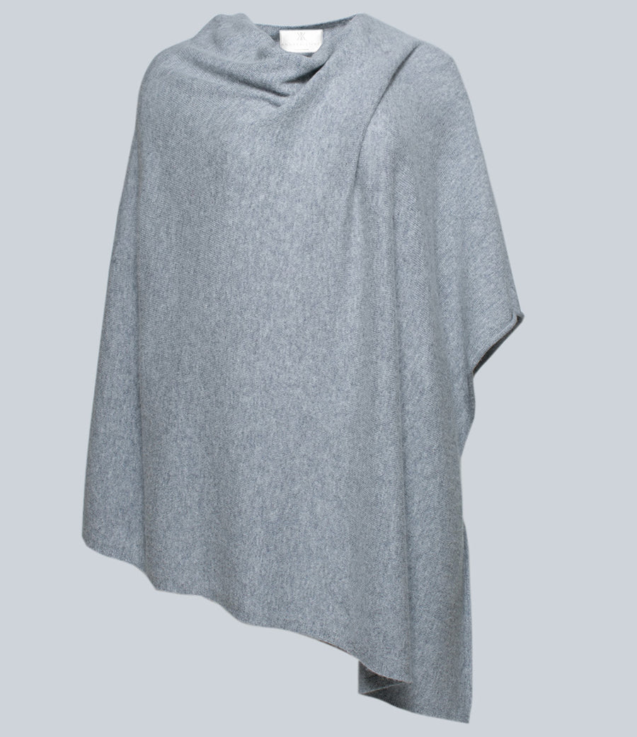 Heather Gray Poncho
