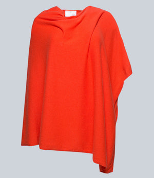 Sunrise Orange Poncho