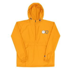 Love Hurts® x Champion Embroidered Packable Jacket (Yellow/Navy)