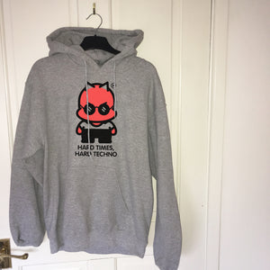 Hard Times, Hard Techno® Hoodie (GREY/BLACK)