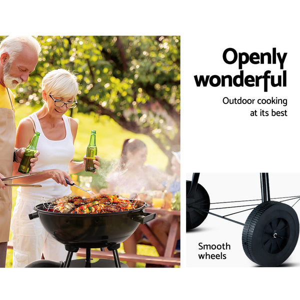 Outdoor Camping Patio Wood Barbeque Steel Oven