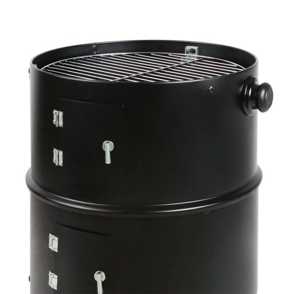 BBQ Blokes Charcoal Barbeque Smoker/Black-BBQ.Bloke.001