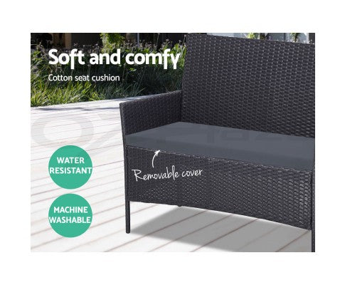 BBQ Blokes Outdoor Garden Furniture Rattan Set