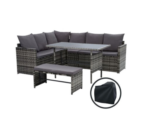 BBQ Blokes Garden Outdoor Furniture Dining Setting