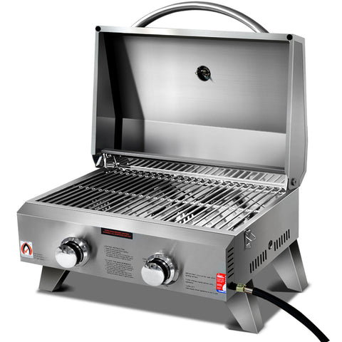 BBQ Blokes Portable 2 Burner Gas BBQ