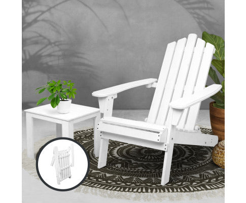 Gardeon 2 Piece Outdoor Beach Chair and Table Set