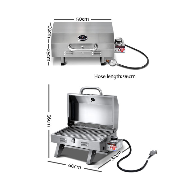 BBQ Blokes Portable Gas BBQ Grill Heater
