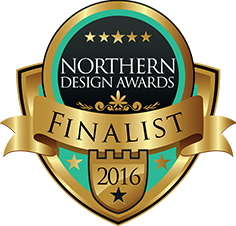 Hooray!! We are Finalists - Northern Design Awards 2016
