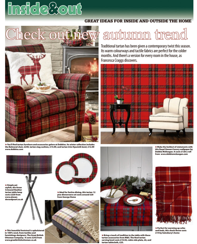 Great to spot our very own Stewart Tartan Wallpaper!!......Homemaker magazine