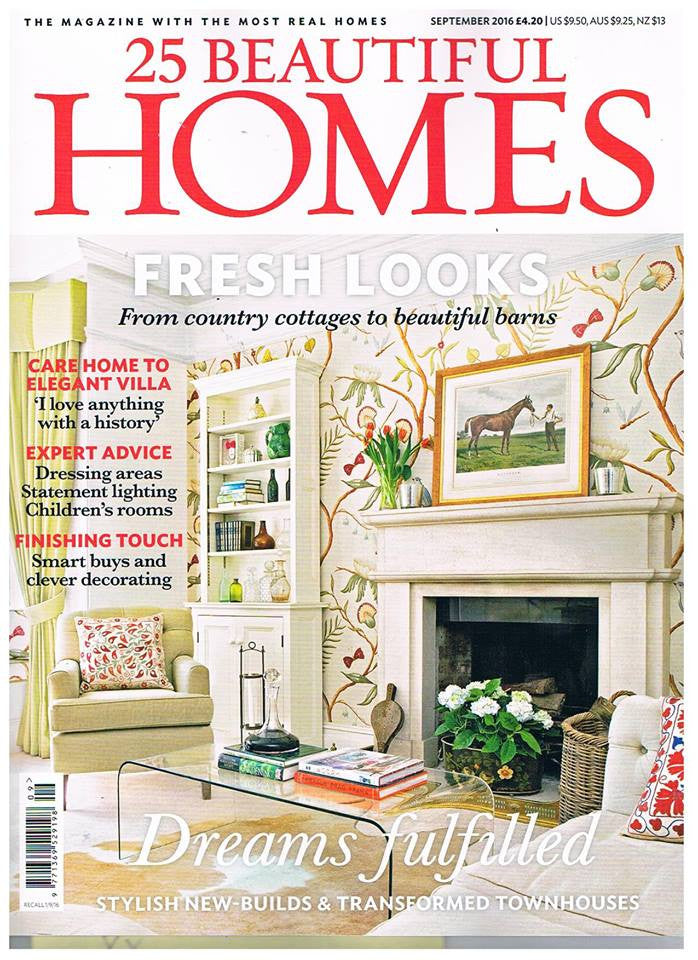 Our London Brick wallpaper - 25 Beautiful Homes - September 2016